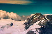 Top of Southern Alps in New Zealand — Stock Photo