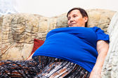 Obese elderly woman — Stock Photo