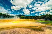 Kleurrijke thermische landschap in nieuw-zeeland — Stockfoto