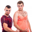 Stock Photo: Strong transvestites