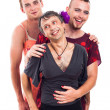 Laughing transvestites portrait — Stock Photo #23161232