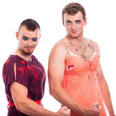 Strong transvestites — Stock Photo