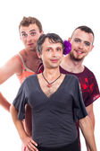 Transvestites portrait — Stock Photo