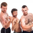 Royalty-Free Stock Photo: Shirtless sportsmen posing