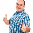 Smiling man thumbs up — Stock Photo