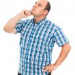 Stock Photo: Pensive man