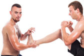 Martial arts training — Stock Photo