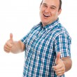 Ecstatic man thumbs up — Stock Photo