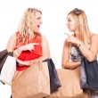 Foto de Stock  : Ecstatic friends shopping