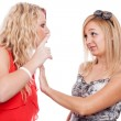 Girlfriends arguing — Stock Photo
