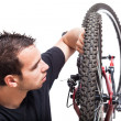 Bicycle maintenance — Stockfoto