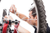 Bicycle repair — Stock Photo