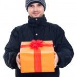 Happy man with present — Stock Photo #28853879