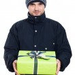 Man with present — Stock Photo #28853931