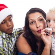 Stock Photo: Family Christmas celebration