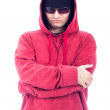 Self-confident man in hoodie and sunglasses — Stock Photo #29275587