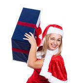 Christmas woman having fun — Stock Photo