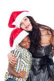 портрет улыбаясь рождество семья — Стоковое фото