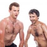 Funny shirtless men posing — Stock Photo #30956243