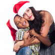 Portrait of happy Christmas family — Stock Photo #30957591
