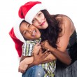 Portrait of happy Christmas family — Stock Photo