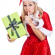 Secret Christmas woman — Stock Photo