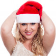 Happy Christmas woman — Stock Photo