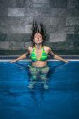 Female beauty in water — ストック写真