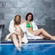 Women in wellness and spa swimming pool — Stock Photo #47200065