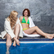 Women in wellness and spa swimming pool — Stock Photo