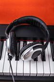 Digital piano and headphones — Stock Photo