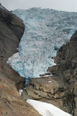 Briksdalsbreen glaciar jostedalsbreen — Fotografia Stock