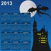 Fairytale calendar for 2013 — Stock Vector