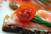 Salmon appetizers — Stock Photo