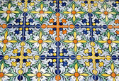 Old typical Spanish tiles — Stock Photo