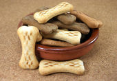 Dog Biscuits on a table — Stock Photo