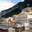 View of houses in Gibraltar - Stock Photo