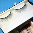 Black colored false eyelashes — Stock Photo