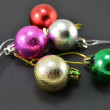 Christmas balls of different colors — Stock Photo