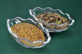 Different types of flax seed — Stock Photo