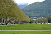 Outdoor park in Annecy in France — Stock Photo