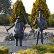 Statues of Don Quixote and Sancho Panza — Stock Photo #39516287
