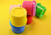 Paint cans of various colors — Stock Photo