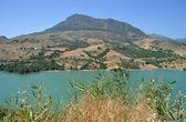 Reservoir water in ronda Spanje — Stockfoto