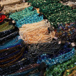 Beads and costume jewelry made of a natural stone — Stock Photo