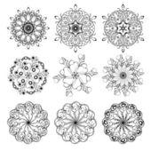 9 guilloche ornaments — Wektor stockowy