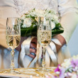 Wedding champagne glasses — Stock Photo #22897270
