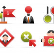 Modern office icons — Stock Vector