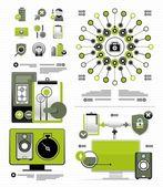 Vector elementos para infografía — Vector de stock