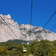 Ropeway to the top of Ai-Petri in Crimea mountains, Ukraine - Stock Photo